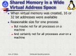 shared memory in a wide virtual address space