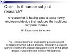 quiz is it human subject research1
