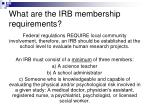 what are the irb membership requirements