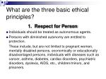 what are the three basic ethical principles