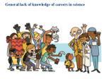 general lack of knowledge of careers in science