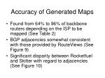 accuracy of generated maps
