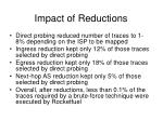 impact of reductions