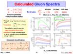 calculated gluon spectra