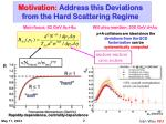 motivation address this deviations from the hard scattering regime