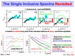 the single inclusive spectra revisited
