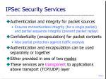 ipsec security services