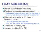 security association sa