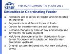 difficulties in coordinating feeder