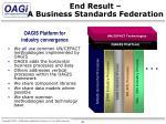 end result a business standards federation