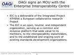 oagi signs an mou with the enterprise interoperability centre