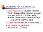 examples for idr using ca