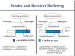sender and receiver buffering