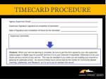 timecard procedure