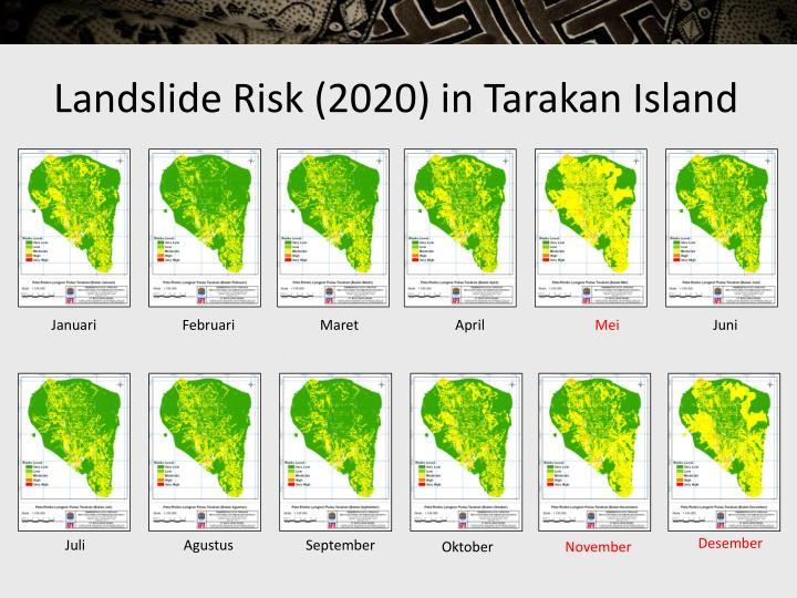 Landslide Risk (2020) in Tarakan Island