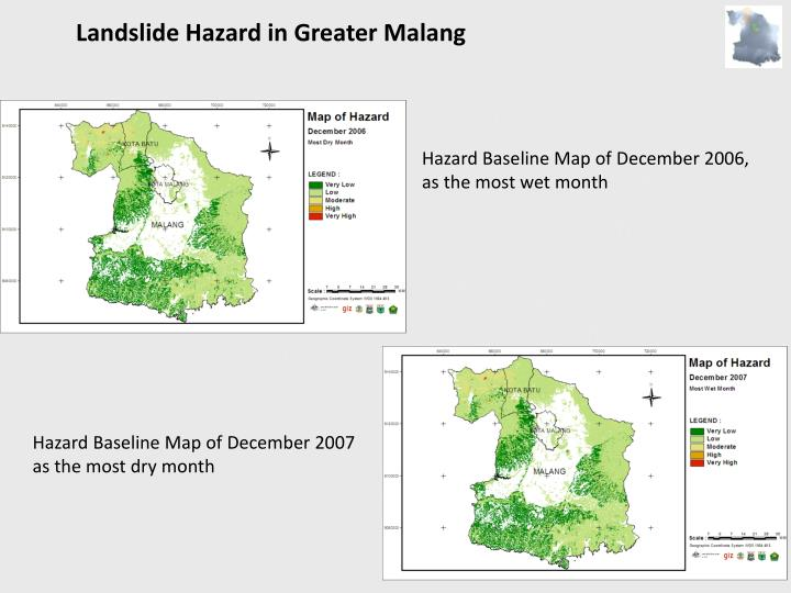 Landslide Hazard in Greater Malang