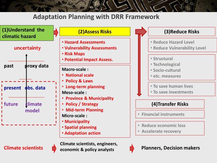 Adaptation Planning with DRR Framework