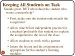 keeping all students on task6