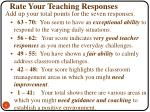 rate your teaching responses