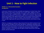 unit 1 how to fight infection
