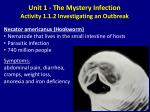 unit 1 the mystery infection activity 1 1 2 investigating an outbreak6