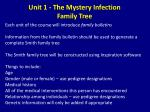 unit 1 the mystery infection family tree