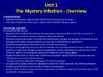 unit 1 the mystery infection overview1