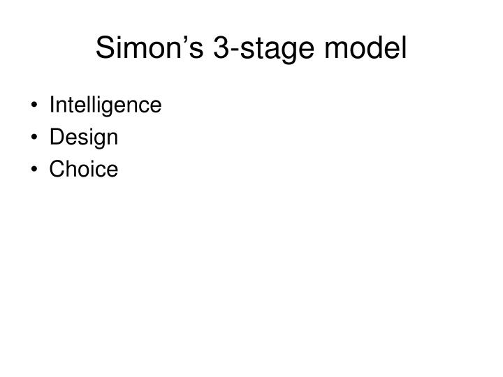 Simon's 3-stage model