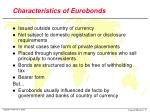 characteristics of eurobonds