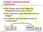 hedging international equity investments