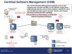 certified software management csm