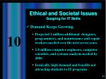ethical and societal issues gasping for it skills