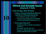 ethical and societal issues gasping for it skills1