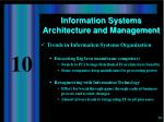 information systems architecture and management11