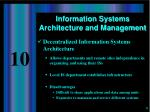 information systems architecture and management2