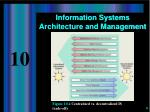 information systems architecture and management6