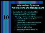 information systems architecture and management7