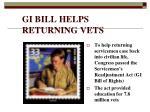 gi bill helps returning vets
