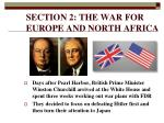 section 2 the war for europe and north africa
