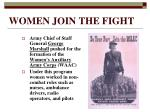 women join the fight