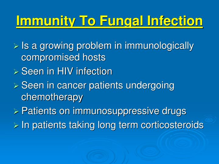Immunity To Fungal Infection