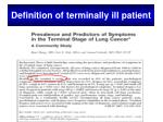 definition of terminally ill patient1
