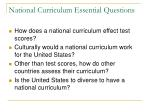 national curriculum essential questions