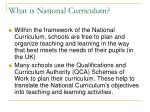 what is national curriculum2