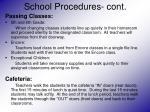 school procedures cont