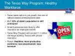 the texas way program healthy workforce