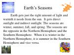 earth s seasons