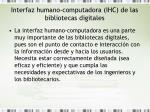 interfaz humano computadora ihc de las bibliotecas digitales