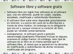 software libre y software gratis