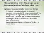 un comparativo entre windows y linux qu ventajas tiene windows sobre linux1